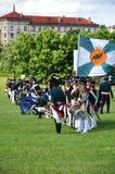 Reenactment da batalha 1812 de napoleon foto de stock royalty free