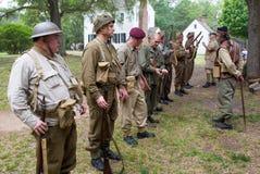 Reenactment da batalha da segunda guerra mundial Foto de Stock Royalty Free