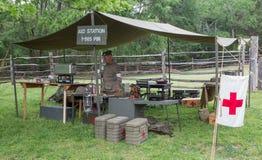 Reenactment da batalha da segunda guerra mundial Fotografia de Stock Royalty Free