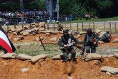 Reenactment da batalha de Nivelle do picador Foto de Stock