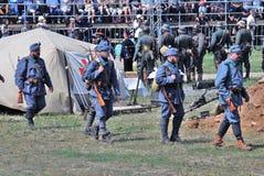 Reenactment da batalha de Nivelle do picador Fotografia de Stock