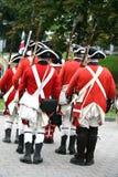 Reenactment da democracia 250, soldados britânicos Fotografia de Stock Royalty Free