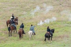 Reenactment da guerra civil Imagens de Stock