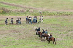 Reenactment da guerra civil Foto de Stock