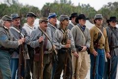 Reenactment da guerra civil Fotografia de Stock