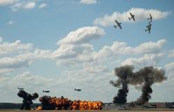 Reenactment do Pearl Harbor Fotografia de Stock