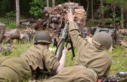 Reenactment för strid för världskrig II Royaltyfri Foto