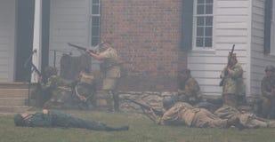 Reenactment för strid för världskrig II Royaltyfri Bild