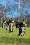 Reenactment histórico da batalha de Moscovo Fotografia de Stock Royalty Free
