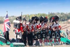 Reenactment histórico da guerra crimeana Imagem de Stock Royalty Free