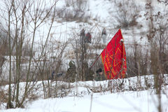 Reenactment histórico em Porozhki, Leninegrado Fotos de Stock