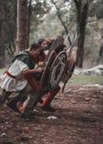 Reenactment histórico medieval Imagem de Stock