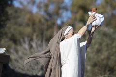 Reenactment Iberyjski bogini Ataecina rytuał Kapłanki wydźwignięcie fotografia royalty free