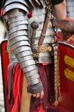 Reenactment med roman soldatlikformig Royaltyfri Fotografi