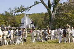 Reenactment oblężenie Yorktown Obrazy Royalty Free
