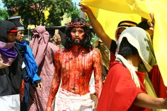 Reenactment of the Passion of Christ. Stock Images