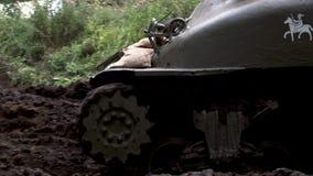 Reenactment przedstawienie, wojny światowej dwa amerykanina Sherman zbiornik zbiory