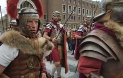 Reenactment Romańskie legie, Rzym, Włochy Zdjęcia Royalty Free