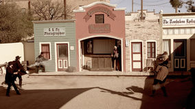 Reenactment of the Shootout at The OK Corral in Tombstone, Arizo Stock Images