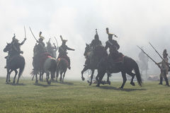 Reenactment of the Siege of Pressburg by Napoleon in 1809 Stock Photos
