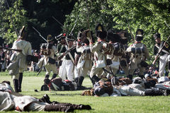 Reenactment of the Siege of Pressburg by Napoleon in 1809 Stock Images