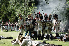 Reenactment of the Siege of Pressburg by Napoleon in 1809 Stock Image