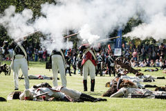 Reenactment of the Siege of Pressburg by Napoleon in 1809 Royalty Free Stock Image