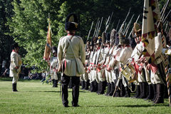 Reenactment of the Siege of Pressburg by Napoleon in 1809 Royalty Free Stock Photography