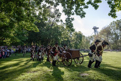 Reenactment of the Siege of Pressburg by Napoleon in 1809 Stock Photography