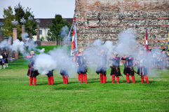 Reenactment of siege of Turin, september 1706. Royalty Free Stock Images