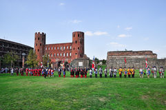 Reenactment of siege of Turin, september 1706. Royalty Free Stock Photography