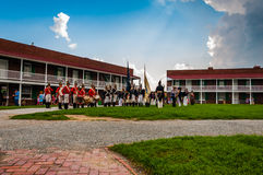 Reenactment on a summer day at Fort McHenry, Baltimore. Stock Image