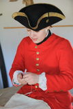 Reenactment of what a tailor might do in a day's work,Fort Ticonderoga,New York,2015 Royalty Free Stock Photos