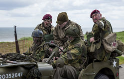 Reenactment of World War 2 battle. Blyth, Northumberland, May 16. 2015. Stock Photo