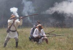 reenactmentrevolutionären kriger Royaltyfri Fotografi