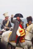 Reenactor играя Наполеон Бонапарт на Бородино Стоковые Изображения RF