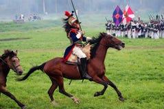 Reenactor-cuirassier portrait stock image