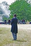 Reenactor de Abraham Lincoln fotos de stock