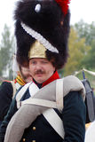 Reenactor - French soldier Royalty Free Stock Photos