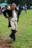 Reenactor man dressed as Napoleonic war soldier portrait Royalty Free Stock Image