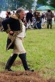 Reenactor man dressed as Napoleonic war soldier portrait Stock Images