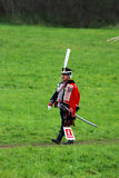 Reenactor man dressed as Napoleonic war soldier portrait Stock Photography