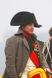Reenactor playing Napoleon Bonaparte at Borodino Stock Photo