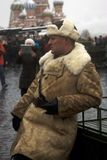 Reenactor on the Red Square in Moscow royalty free stock photo