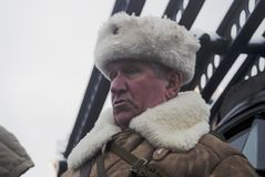 Reenactor on the Red Square in Moscow Royalty Free Stock Photography
