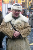 Reenactor on the Red Square in Moscow stock images