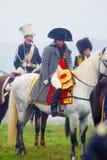 Reenactor ubierał jako Napoleon Bonaparte Obrazy Stock