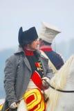 Reenactor ubierał jako Napoleon Bonaparte Zdjęcia Stock