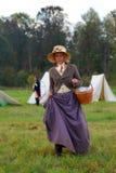 Reenactor woman portrait. Stock Image