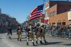 Reenactors à St Patrick &#x27 ; défilé Boston, Etats-Unis de jour de s Photo libre de droits